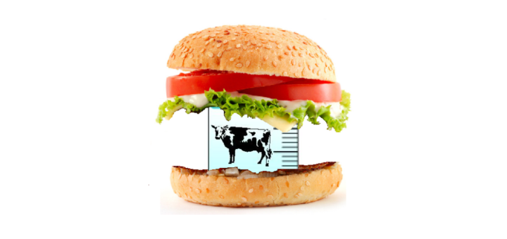 Illustration of a test tube burger